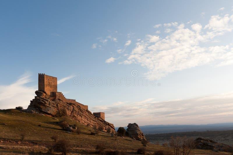 西班牙北部castle de molina老西班牙 库存图片