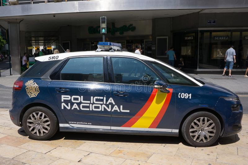 西班牙国家警察汽车公开 免版税库存照片