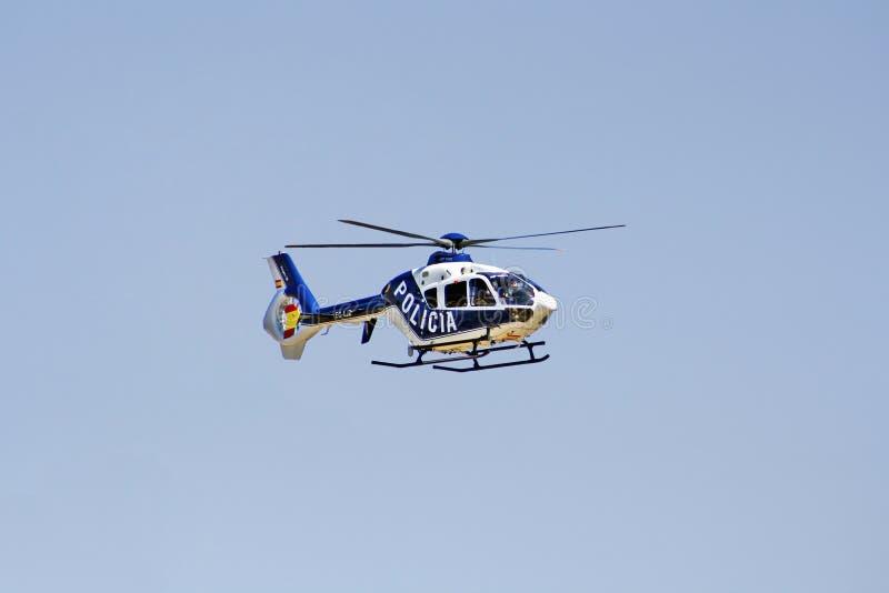 西班牙国家警察直升机 库存照片