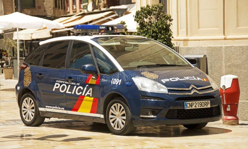 西班牙国家警察 免版税库存照片