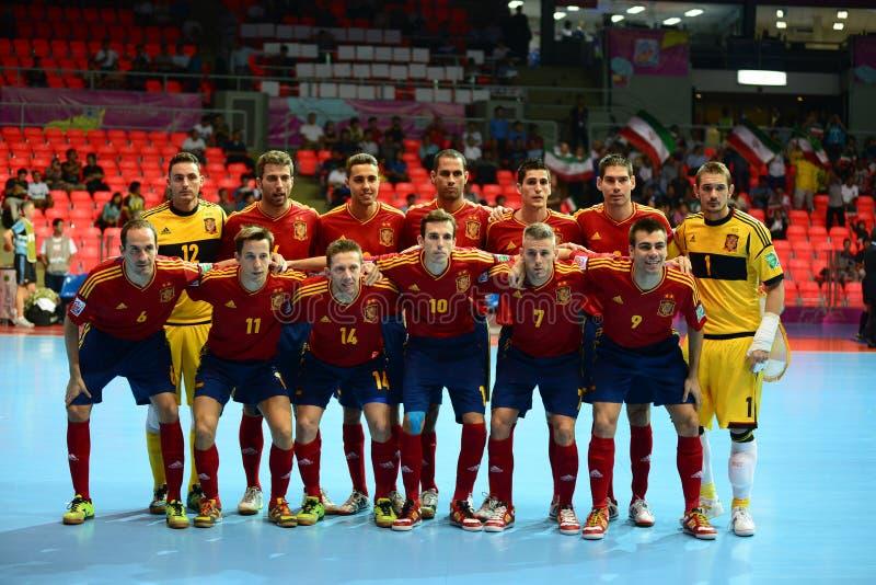 西班牙国家futsal队 免版税库存图片