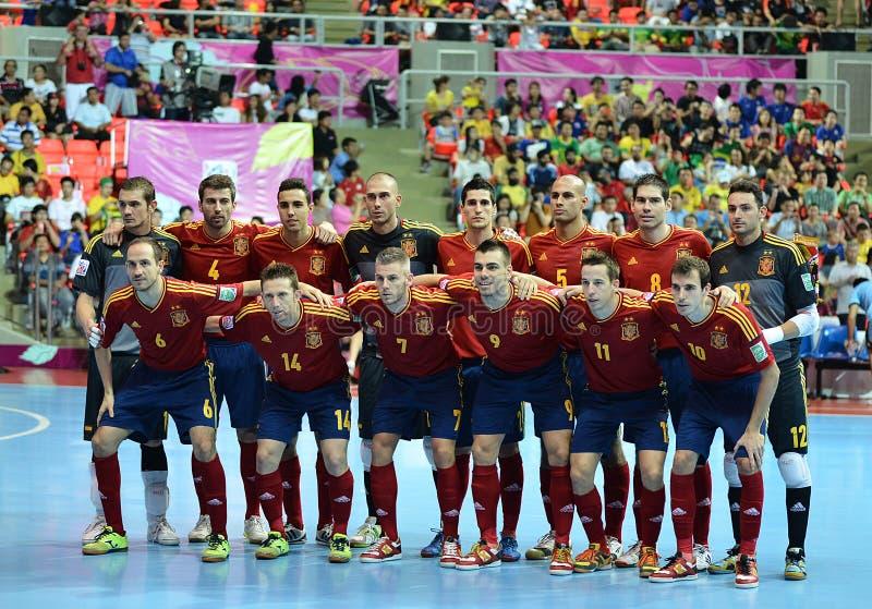 西班牙国家futsal队 免版税库存照片