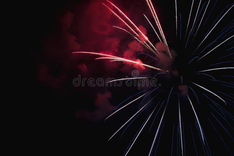 西班牙圣胡安夜里的焰火 库存照片