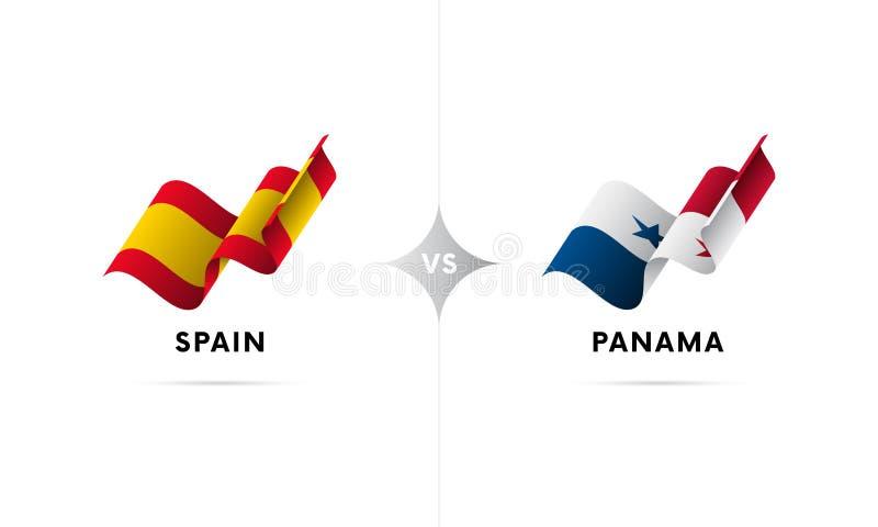 西班牙对巴拿马 橄榄球 也corel凹道例证向量 库存例证