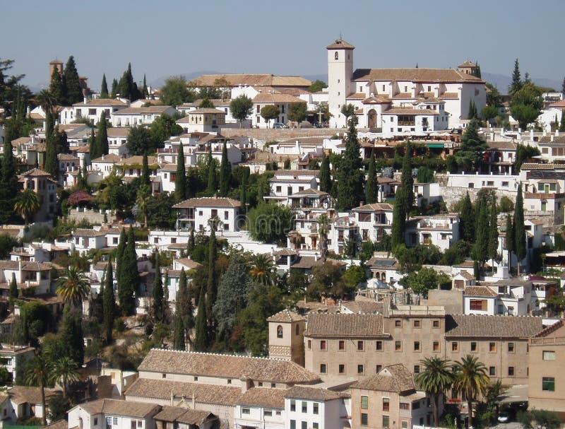 西班牙市从阿尔罕布拉宫的格拉纳达 免版税库存照片