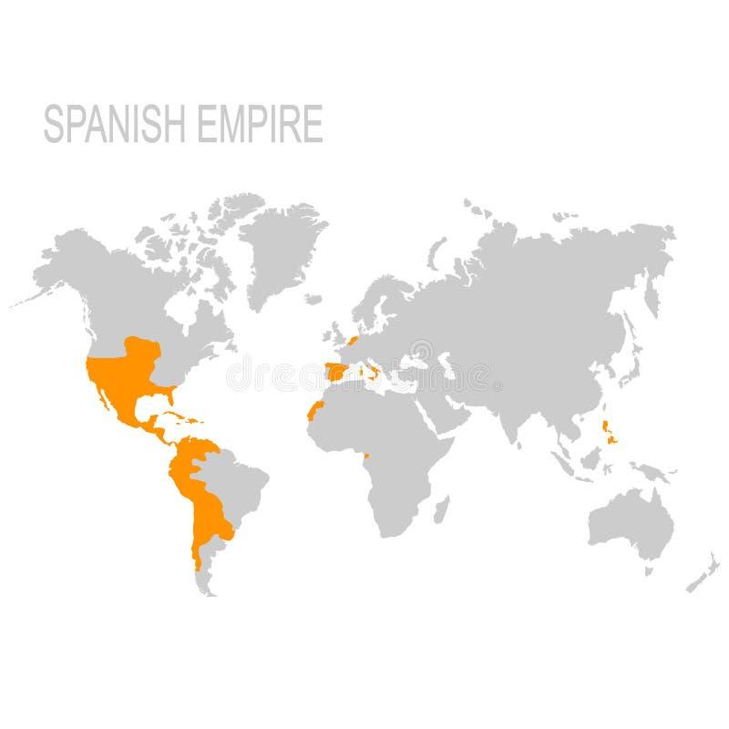 西班牙帝国的地图 皇族释放例证