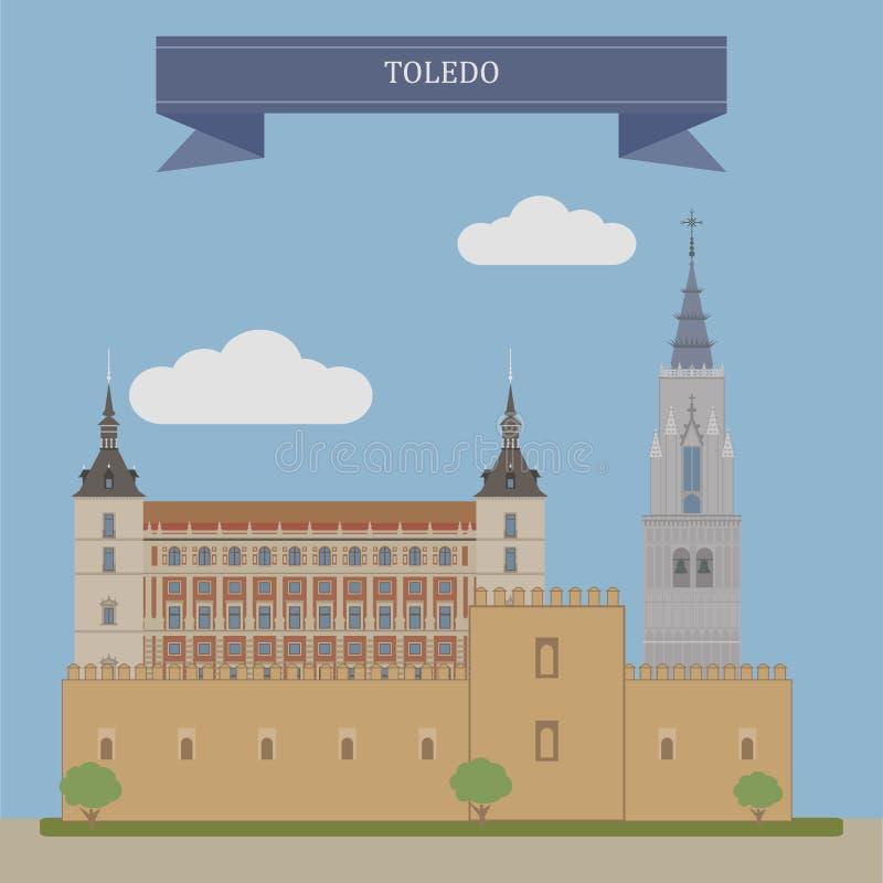 西班牙托莱多 向量例证