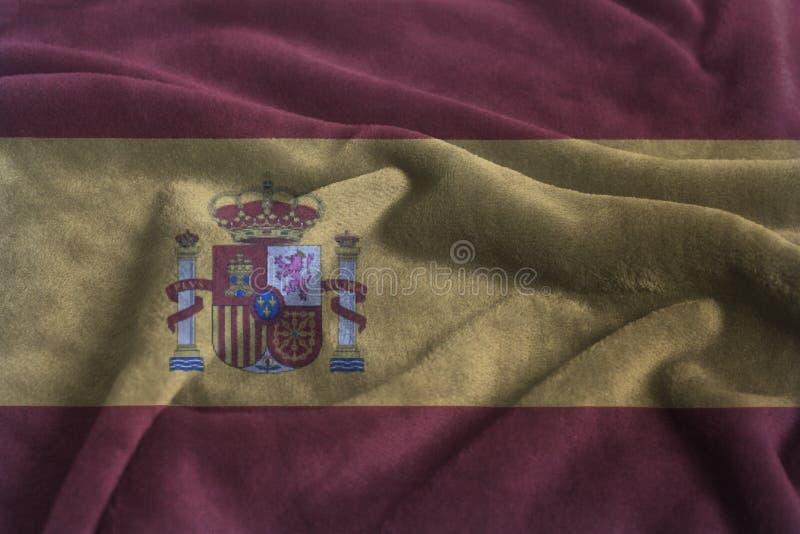 西班牙挥动的旗子 库存照片