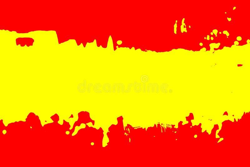 西班牙旗子的颜色 库存例证