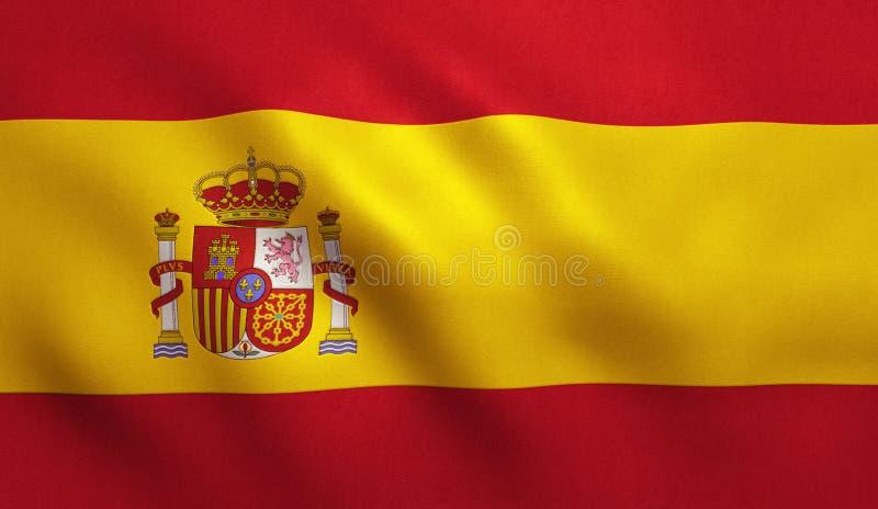 西班牙旗子 向量例证