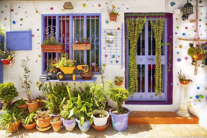西班牙村庄在春天 免版税图库摄影