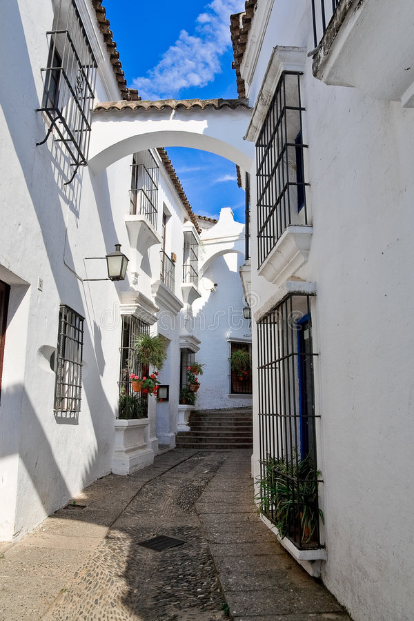 西班牙村庄 免版税库存照片