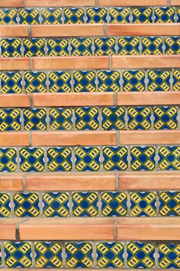西班牙楼梯样式 免版税图库摄影