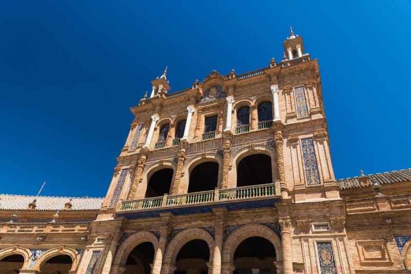 西班牙正方形在塞维利亚,西班牙 免版税库存图片