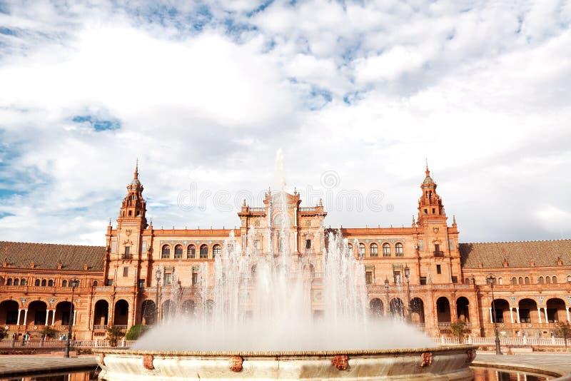 西班牙正方形在塞维利亚 图库摄影