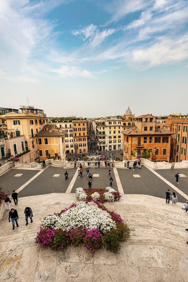 西班牙步和Piazza di Spagna -罗马意大利 免版税库存照片