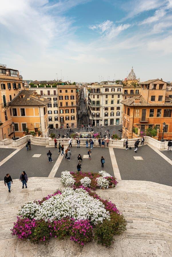 西班牙步和Piazza di Spagna -罗马意大利 图库摄影