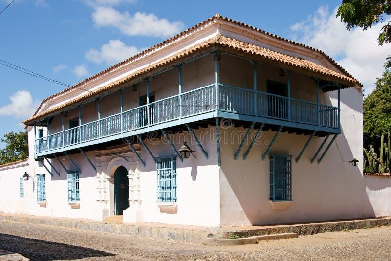 西班牙殖民地样式房子 免版税图库摄影