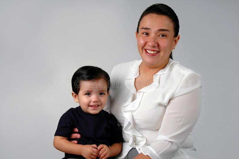 西班牙母亲儿子 免版税图库摄影