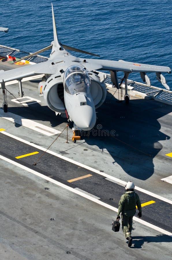 西班牙海军举行海军锻炼 免版税库存图片