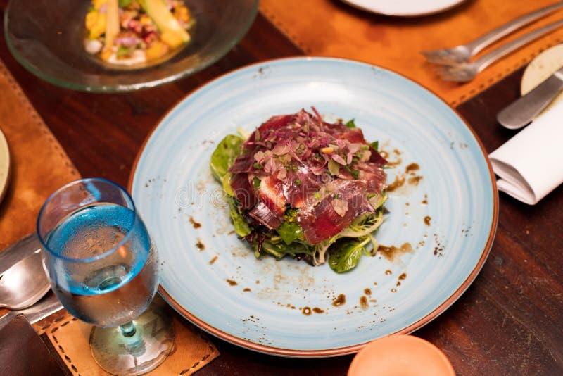 西班牙烹调烹饪在菜单品种  库存照片
