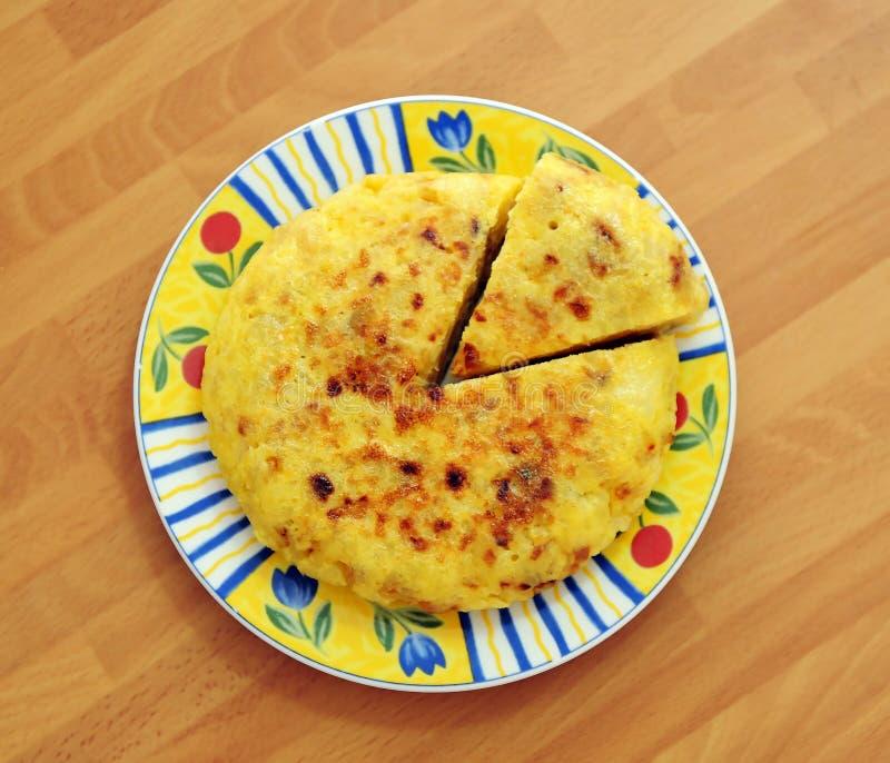 西班牙煎蛋 免版税库存图片