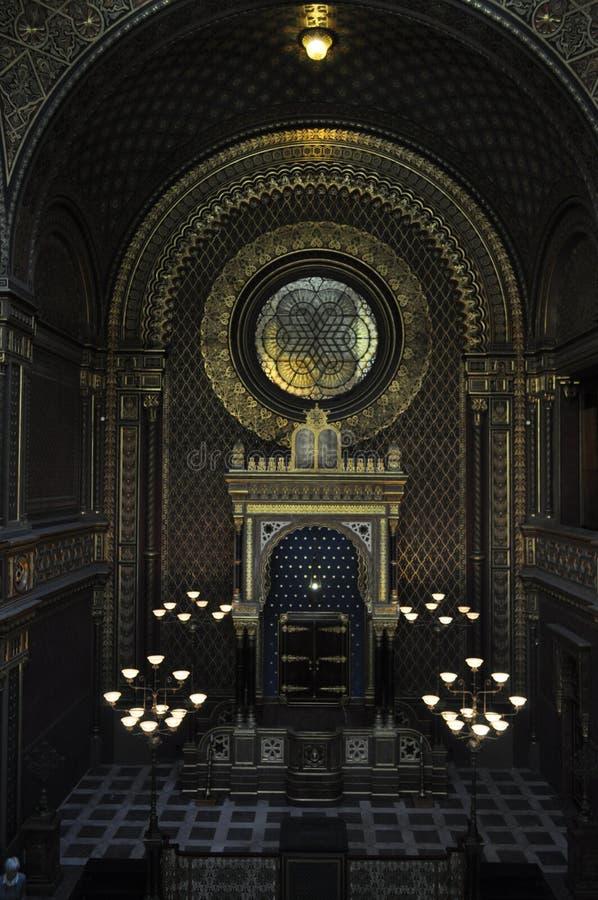 西班牙犹太教堂,布拉格 免版税图库摄影