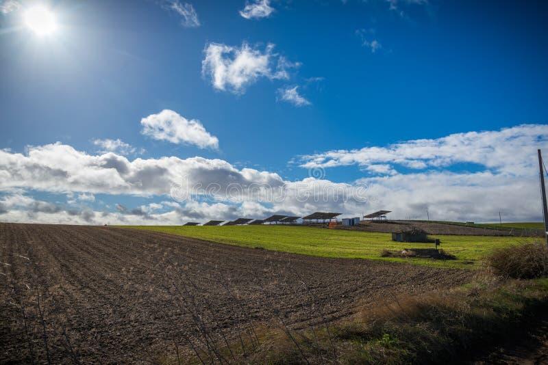 西班牙的北部的风景 库存图片
