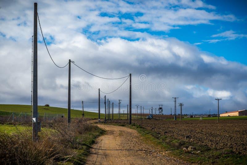 西班牙的北部的风景 免版税库存照片
