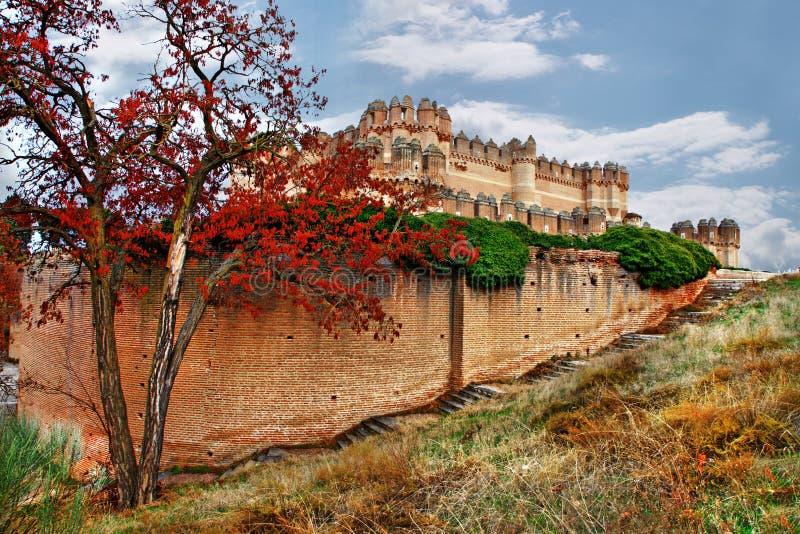 西班牙的城堡 库存照片