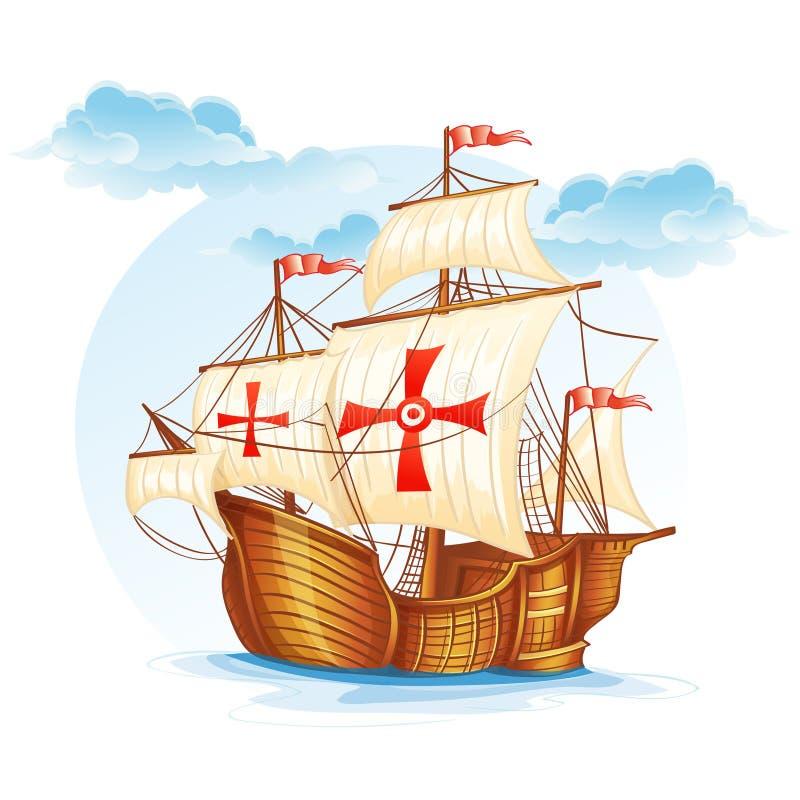 西班牙的帆船, XV世纪 库存例证