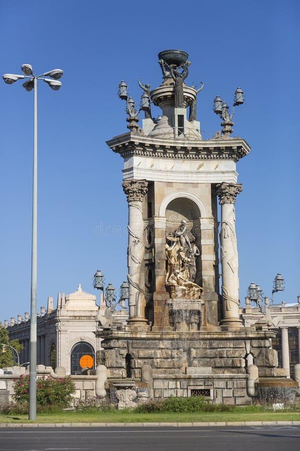 西班牙的广场在巴塞罗那 免版税库存图片
