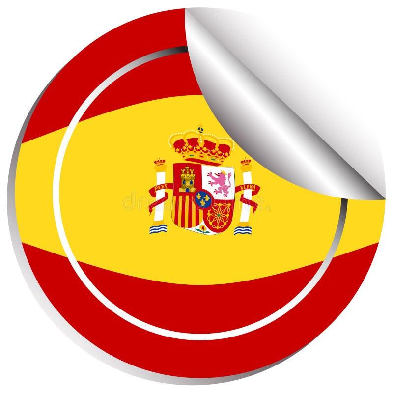 西班牙的旗子的贴纸设计 库存例证