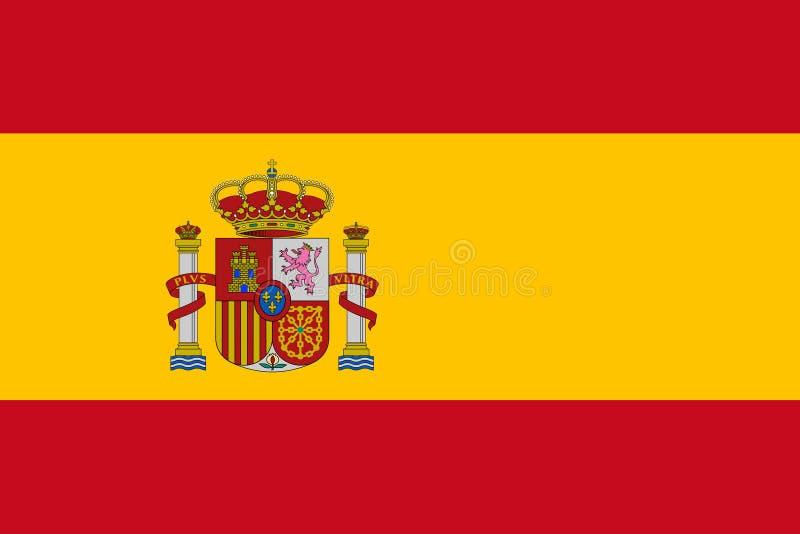 西班牙的旗子 向量例证