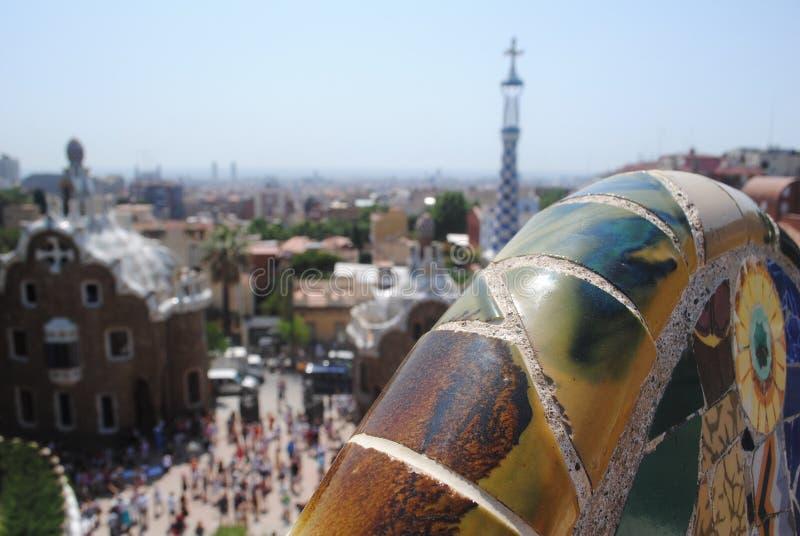 西班牙的看法从上面 库存照片