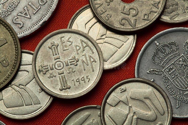 西班牙的硬币 阿斯图里亚斯中世纪Cruz de la维多利亚 免版税库存照片