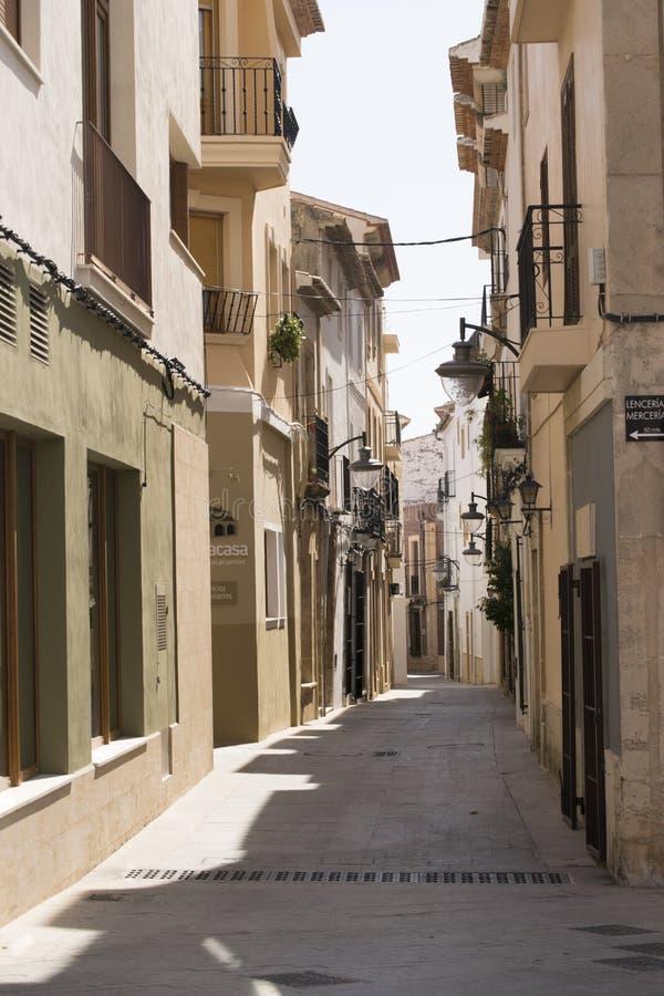 西班牙街道场面 图库摄影
