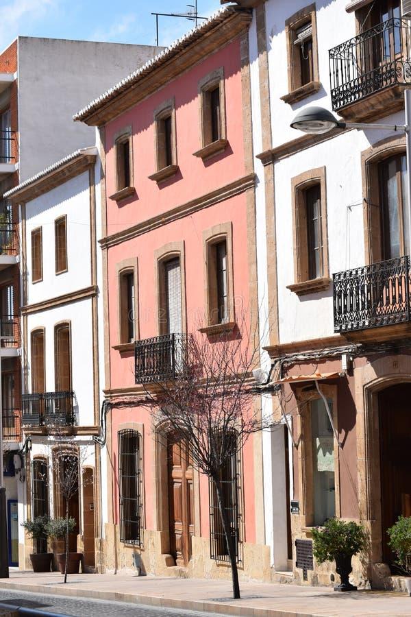 西班牙街道场面 库存照片