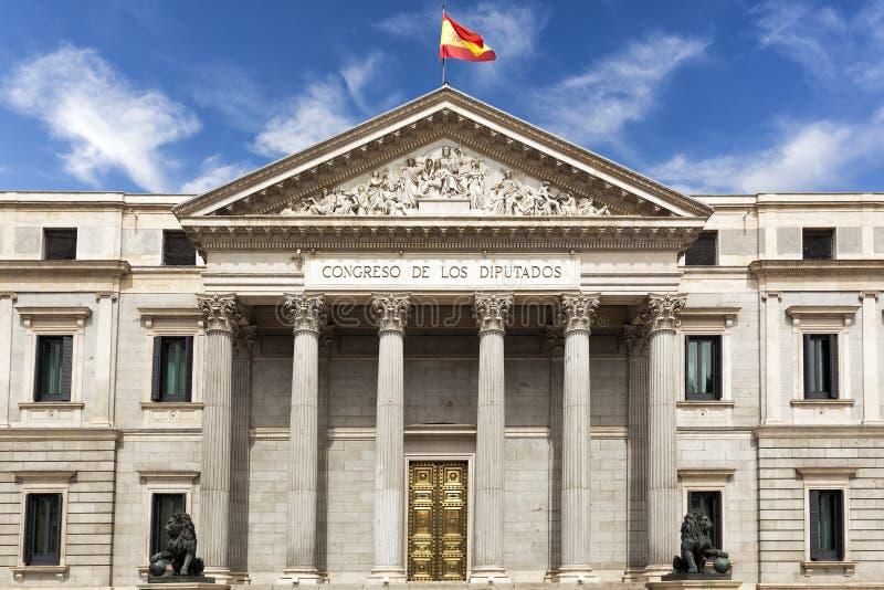 西班牙议会大厦 图库摄影