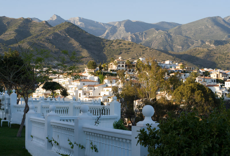 西班牙语的小山 库存图片