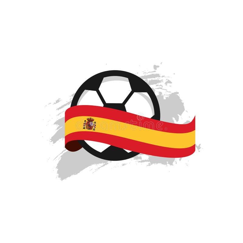 西班牙足球俱乐部传染媒介模板设计例证 向量例证