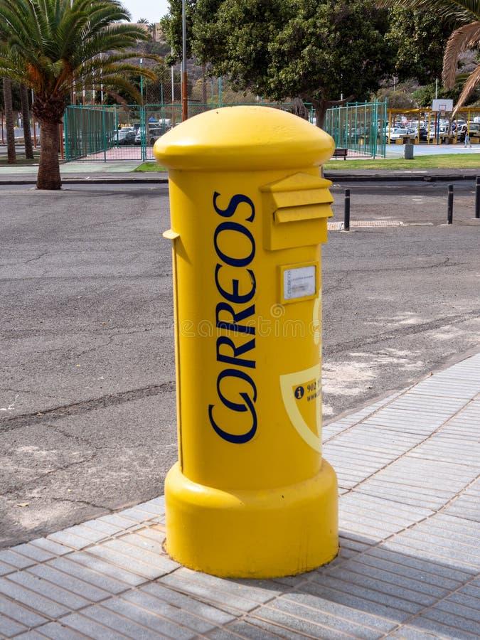 西班牙邮局新信箱,科雷奥斯 库存照片