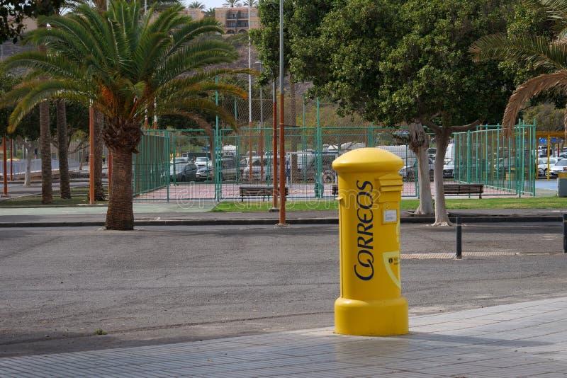 西班牙邮局新信箱,科雷奥斯 免版税库存照片