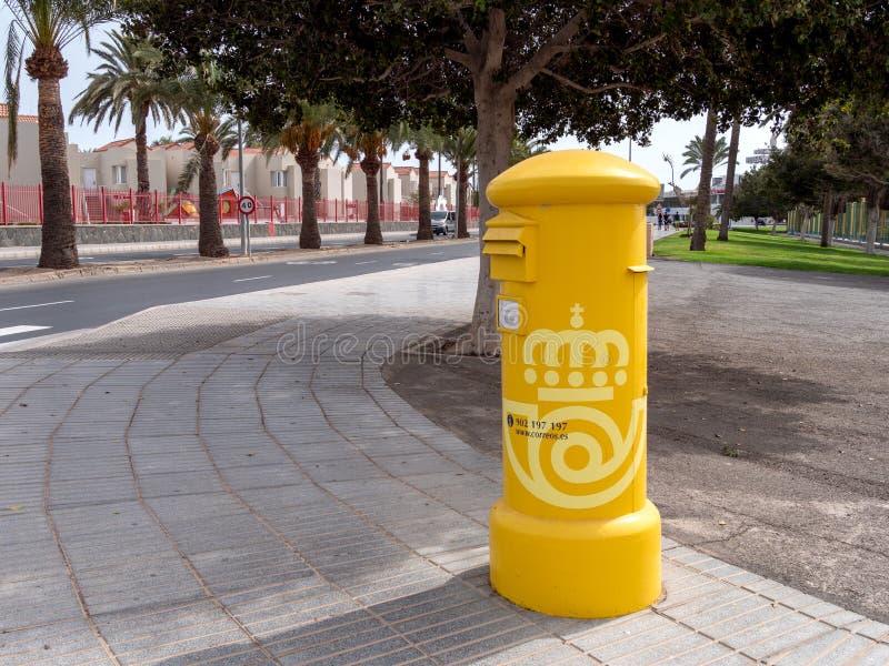 西班牙邮局新信箱,科雷奥斯 库存图片