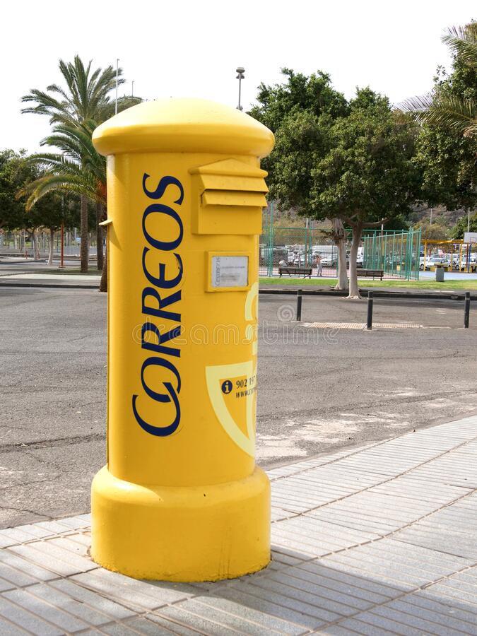 西班牙邮局新信箱,科雷奥斯 免版税库存图片