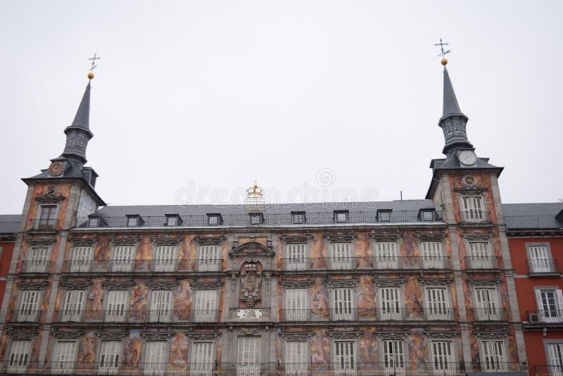 西班牙马德里主广场 库存图片