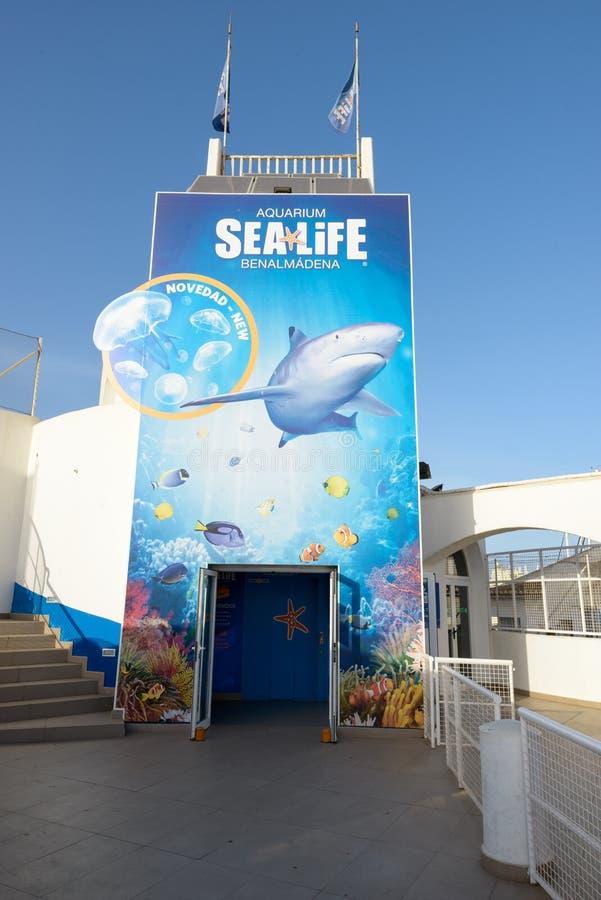 西班牙马拉加 — 2016年9月3日:贝纳玛迪纳海洋馆 库存照片
