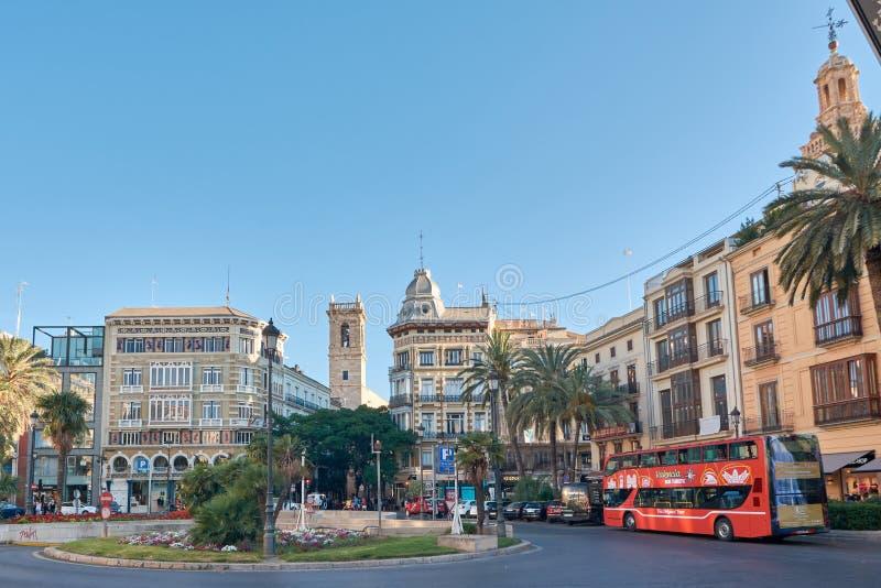 西班牙,巴伦西亚 Placa de la雷讷 免版税库存图片