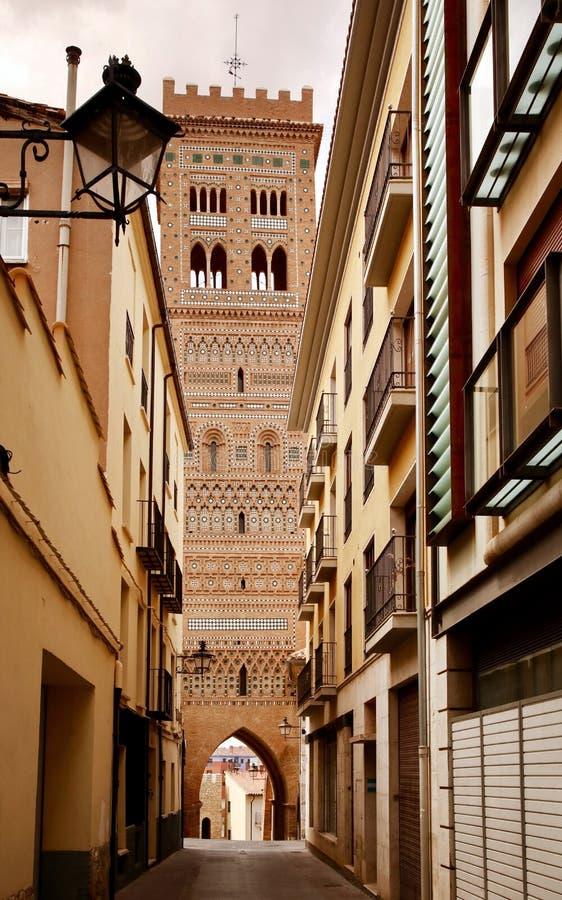 西班牙 圣马丁` s塔在特鲁埃尔省 库存照片