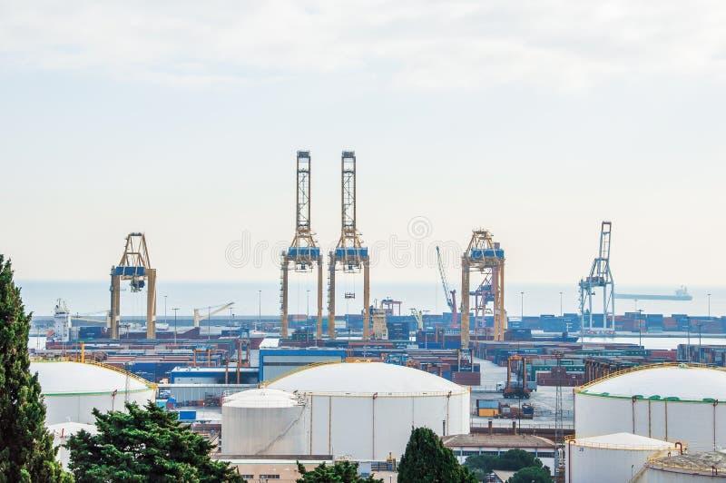 西班牙 巴塞罗那 海港 Zona弗朗卡 免版税图库摄影